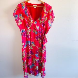 Sundance Silk Floral Layered Dress